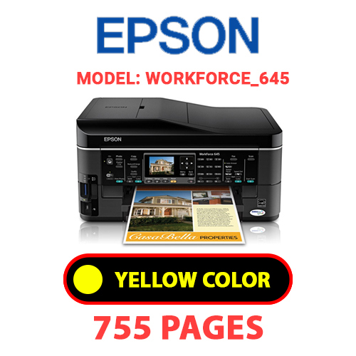 Workforce 645 7 - EPSON Workforce_645 - YELLOW INK