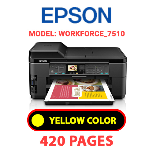 Workforce 7510 3 - EPSON Workforce_7510 - YELLOW INK