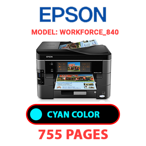 Workforce 840 5 - EPSON Workforce_840 - CYAN INK