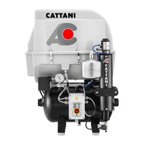 hgh - Cattani AC 100 - Single Cylinder With Acoustic Hood & Pre Filter For Humid Conditions