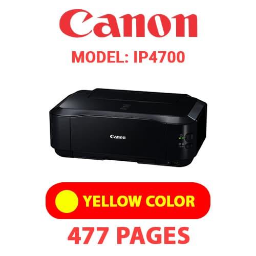 iP4700 5 - CANON iP4700 PRINTER - YELLOW INK
