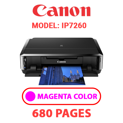 iP7260 3 - CANON iP7260 PRINTER - MAGENTA INK