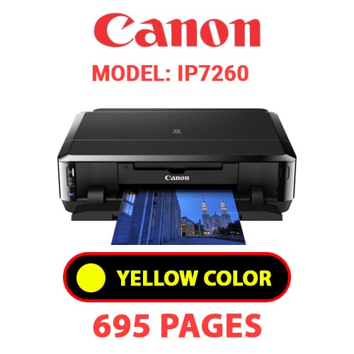 iP7260 5 - CANON iP7260 PRINTER - YELLOW INK