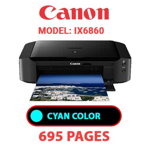 iX6860 2 - CANON iX6860 PRINTER - CYAN INK