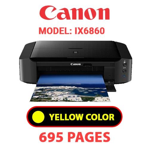 iX6860 5 - CANON iX6860 PRINTER - YELLOW INK