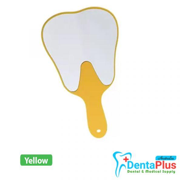 mirror yellow - Hand Mirror Tooth Shape - Yellow