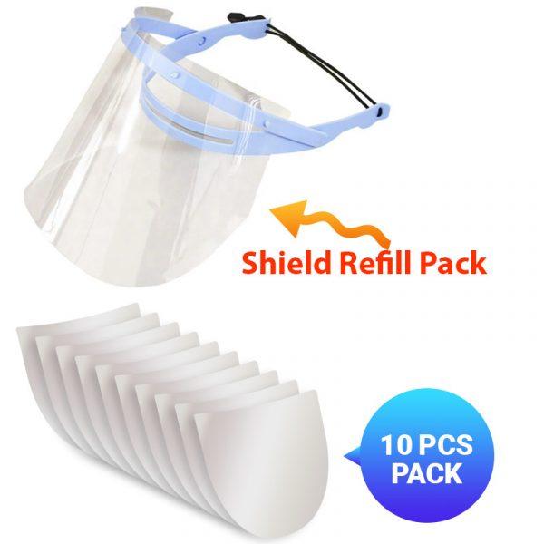 shield Refill - Face Shield Refill - 10Pcs Shield
