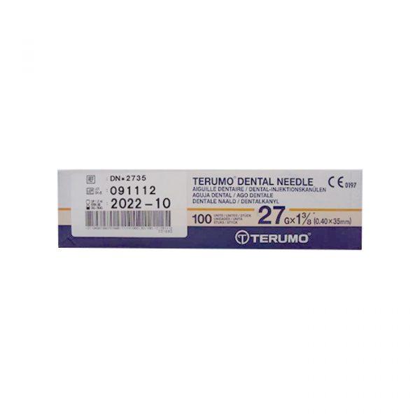 27 . 35 - Dental Needles Terumo - 27G x 35mm - (100pcs/box)