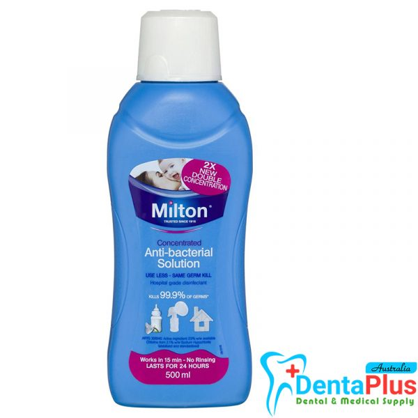 Milton Solution. - Milton Concentrated Anti-Bacterial Disinfectant 500ml 2% Solution Bottle