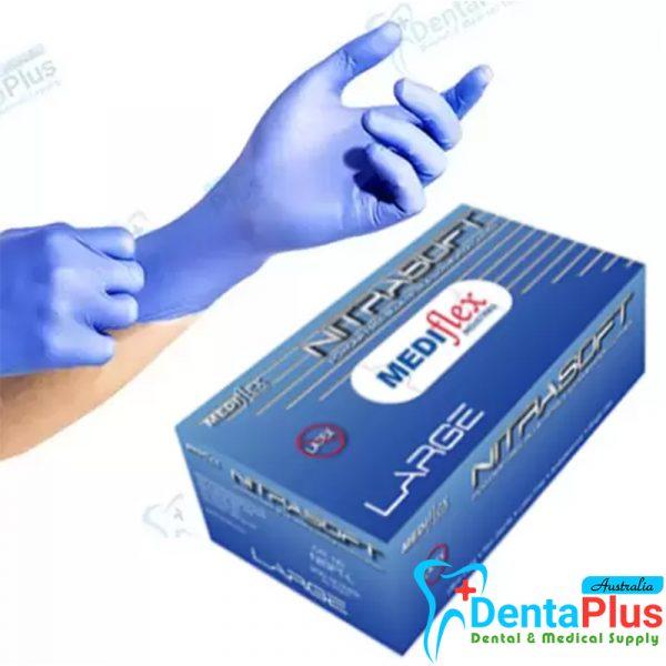 NITRASOFT Nitrile Powder Free Gloves large - NITRASOFT Nitrile Powder Free Gloves (Large) # 200/pkt - 10 box per ctn